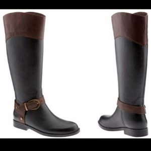 Banana Republic Ryder Rain Boots Black Brown 9